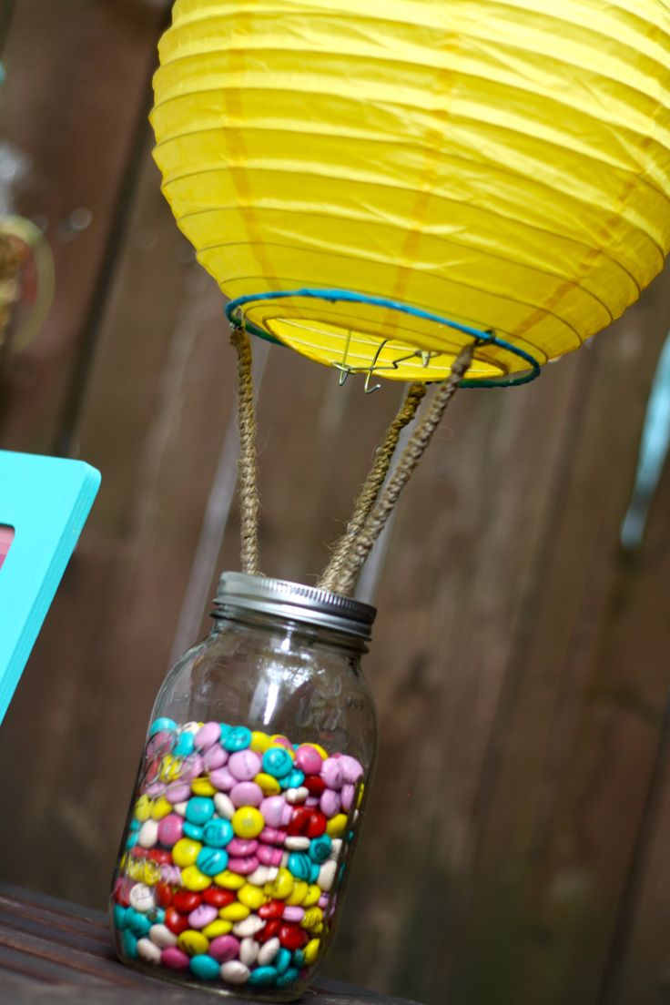Oh! The Places You'll Go! Oh! The Places She'll Go! 1st Birthday 1st Birthday centerpieces Hot air baloon