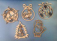 Декоративное новогоднее украшение, заготовки для творчества
