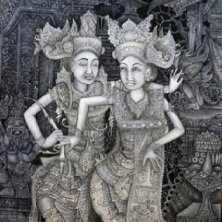 A Traditional Balinese painting