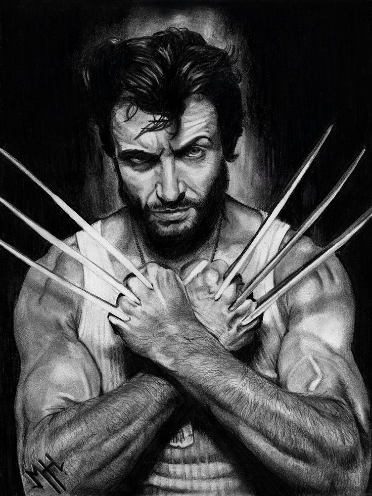 my hugh Jackman ( wolverine) hand drawing 2015  to see more of my work you can visit my intagram: mhh3dartist  or my website: http://mhh3dartist.wix.com/mariehelenehebert