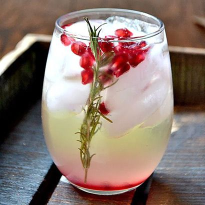 Pomegranate and Rosemary White Sangria | Cold-Weather Cocktails to Warm You Up