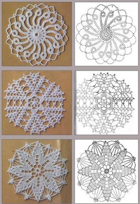 40 diagramas de grannys circulares