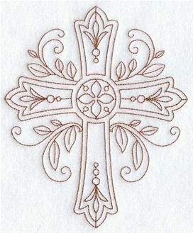 Machine Embroidery Designs at Embroidery Library! - Religious - Christian (Redwork and Vintage)