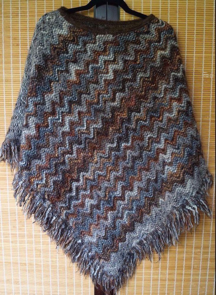 Missoni Zigzag pattern Lana wool Italian poncho | eBay