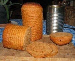 Reuse old cans which have the bottom still in as baking tools. Fill with cake or bread mixture's - baking paper circle over top and tie with string - pop upright in a pot of water and cook. Water no higher than 2/3rd way up the can.  Multiple cans ok.