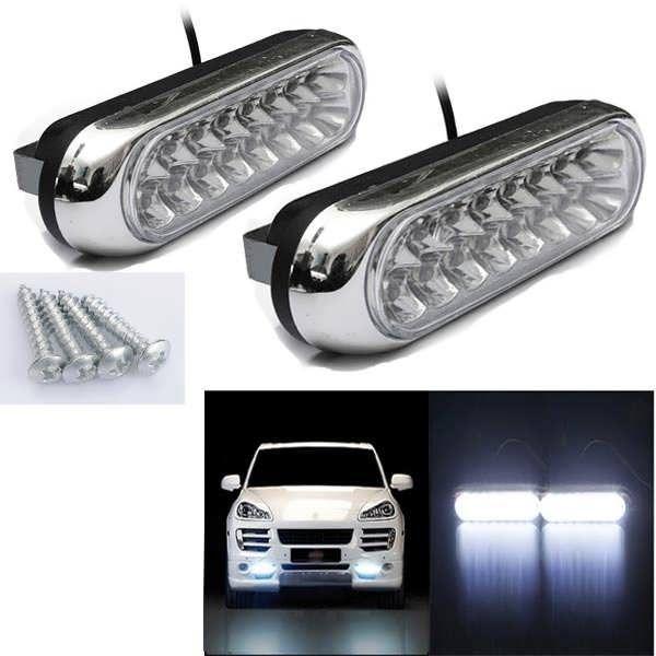 2w Car Daytime Running Fog White 16 Led Light Lamp 12v Worldwide Delivery Original Best Quality Product For 70 Of It S Led Light Lamp Lamp Light Car Lights