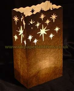 Brown paper bag lantern