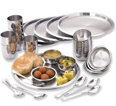 Vinod thali set pack of 36 dinner set price in india buy for Kitchen set on flipkart