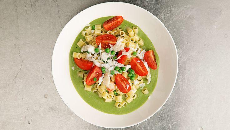 Диталини с соусом из зеленого горошка рецепт с фото