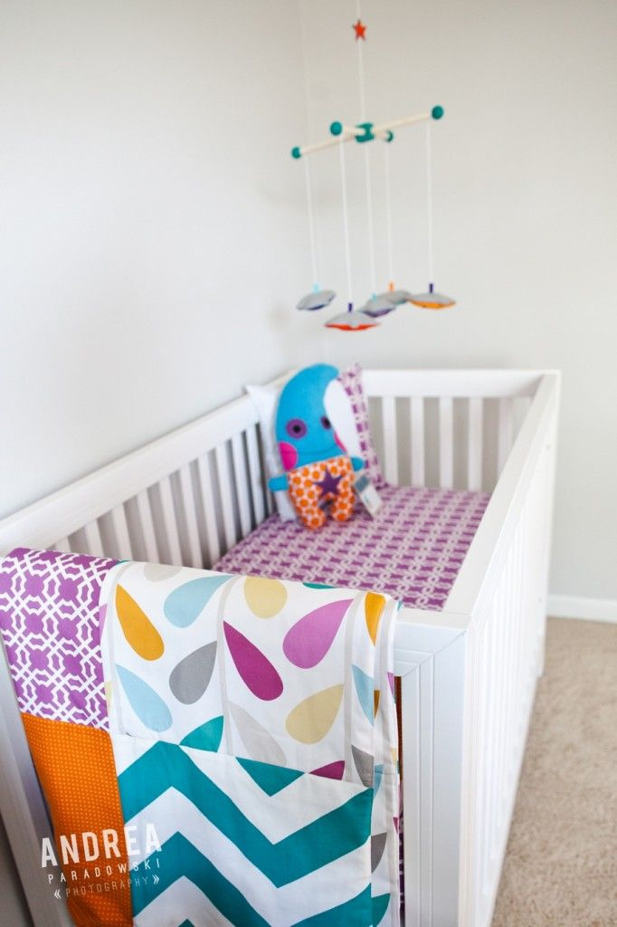 Happy Monster Theme Nursery-especially love the bedding but entire theme is very cute!