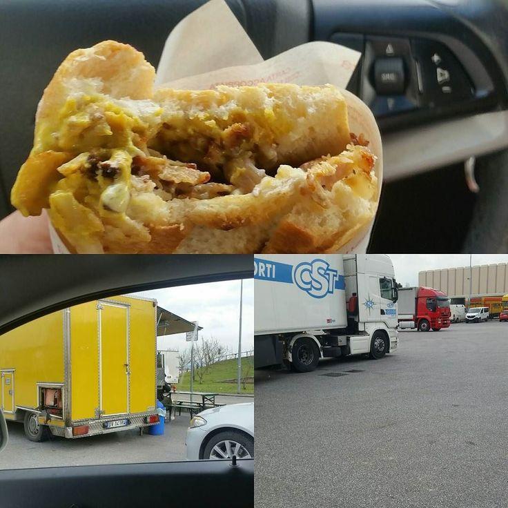 #panino con #cipolla da #femminalfa coi #camionisti