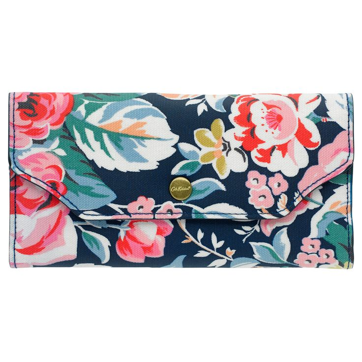Greenwich Rose Card Wallet with Zip Purse   Cath Kidston  
