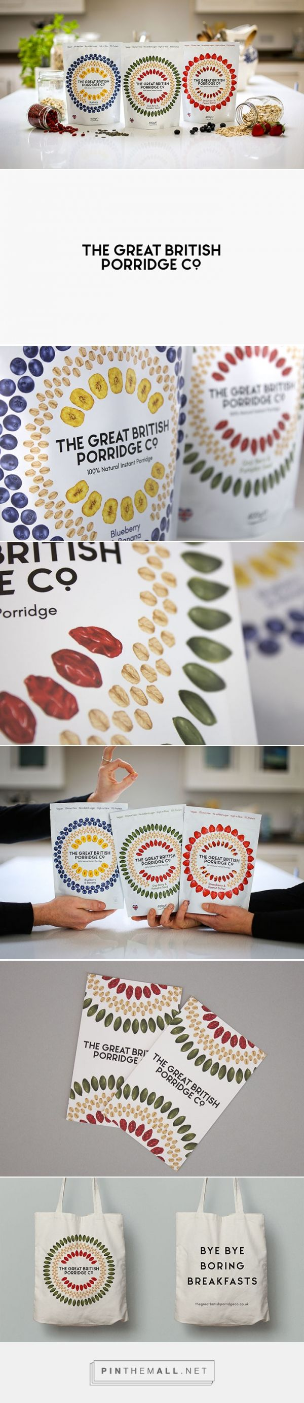 The Great British Porridge Co. by Studio Epitaph. Source: Daily Package Design Inspiration. Pin curated by #SFields99 #packaging #design #inspiration #ideas #creative #product #consumer #cereal #breakfast #food #pouch #doy #pack #typography #color #illustration