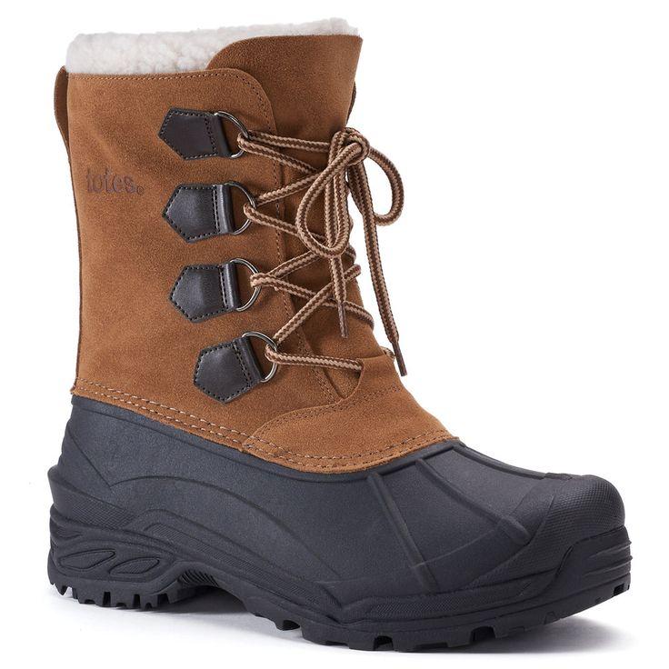 Totes Stern Men's Waterproof Winter Boots, Size: medium (11), Lt Beige