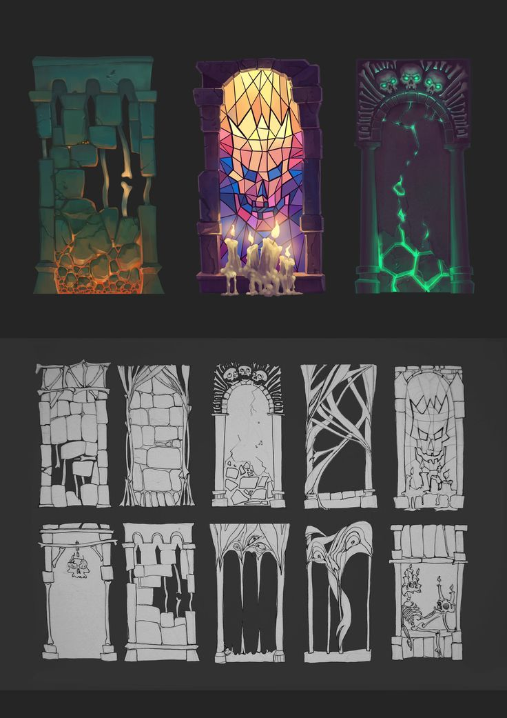 creepy walls, Katja Guettlein on ArtStation at…