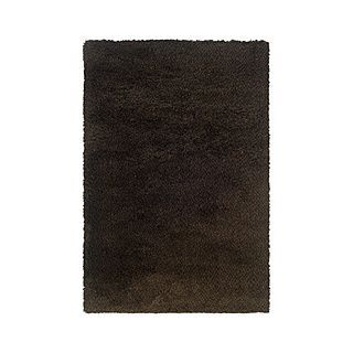 Style Haven Manhattan Tweed Brown/ Black Shag Rug (5' x 8'), Size 5' x 8' (Synthetic, Solid)