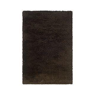 Style Haven Manhattan Tweed / Black Shag Rug