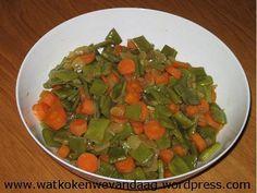 Pittige snijbonen met wortel
