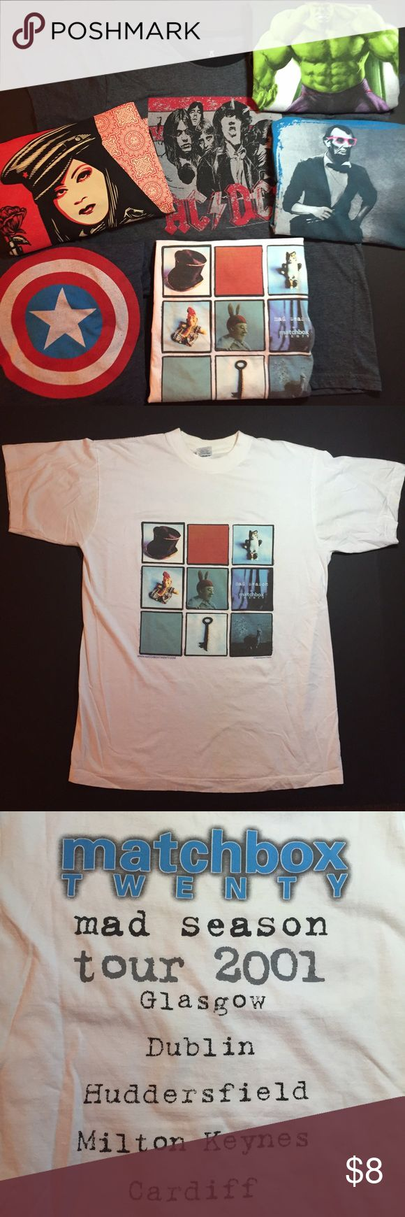 Matchbox 20 HEROES & ICONS SERIES T Iconic millennial band Matchbox 20 concert t. Maybe this shirt could be the participation award you never got for following the band. Regardless, this t has a fantastic graphic, get this one for the fan or for the fun. Just don't wait or it will be gone. Shirts Tees - Short Sleeve