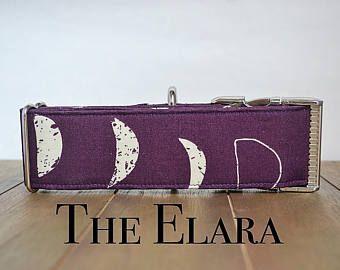 Purple Dog Collar, Lunar Phases, Lunar, Moon Phase, Moon Dog Collar, Moon Dog, Dog Collar Purple, Large Dog Collar, Dog Collar Large, Collar