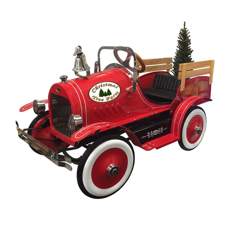 Dexton Kids Deluxe Christmas Tree Delivery Truck Roadster Pedal Car - DX-22233