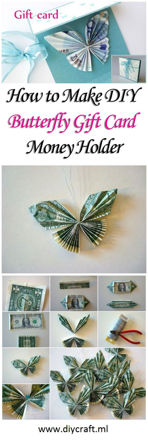 Make DIY Butterfly Gift Card Money Holder                                                                                                                                                     More
