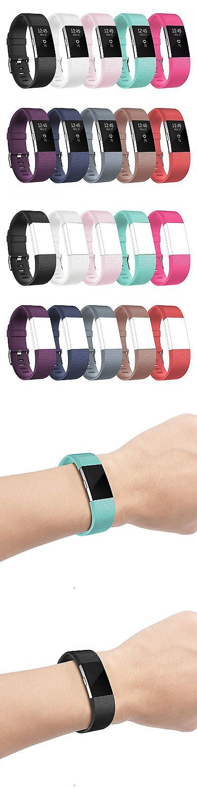 Fit Tech Parts and Accessories 179799: 10 Color Pack Fitbit Charge 2 Replacement Bracelet Band Watch Metal Buckle New -> BUY IT NOW ONLY: $35.41 on eBay!