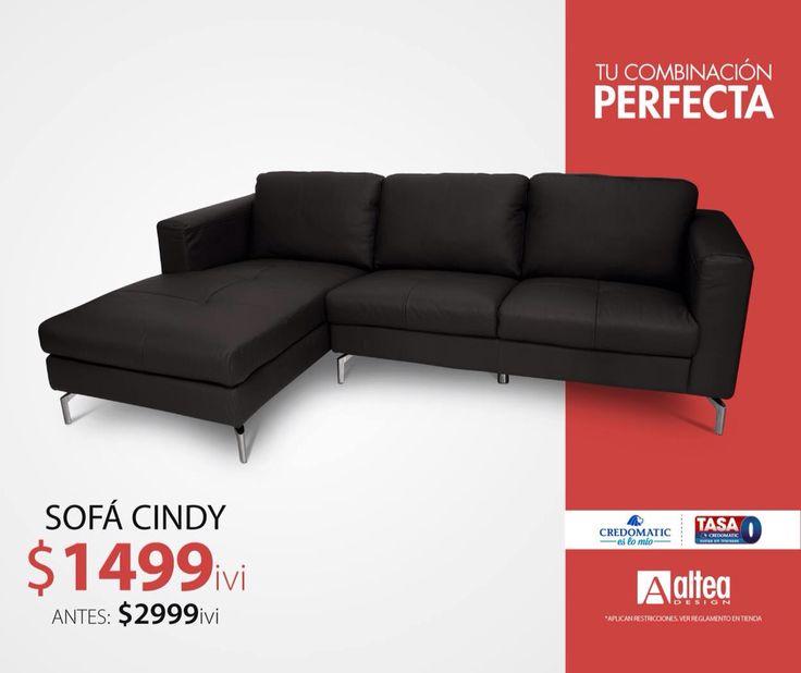Combinar este sofá de cuero ahora es mas fácil por su increíble precio. #LaCombinaciónPerfecta #AlteaDesign