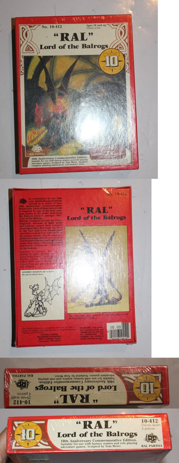 Ral Partha 16489: Ral Lord Of The Balrogs - Ral Partha 10-412 Sealed Adandd Dungeons And Dragons -> BUY IT NOW ONLY: $69.95 on eBay!