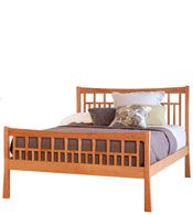 Contemporary Craftsman Wood Bedroom Furniture Set | Solid Wood