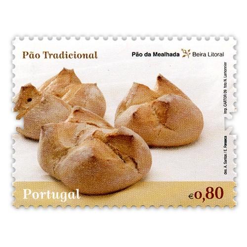"""Pão da Mealhada - Beira Litoral  Série de selos """"A Tradição do Pão em Portugal"""""""