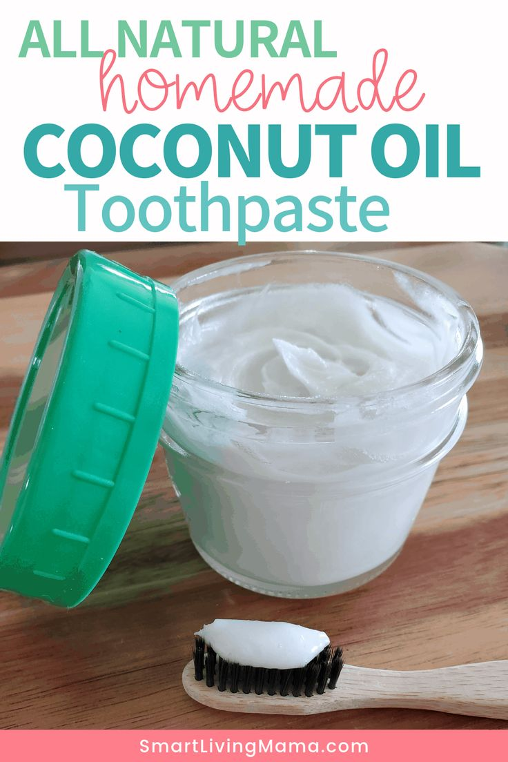 All natural homemade coconut oil toothpaste recipe