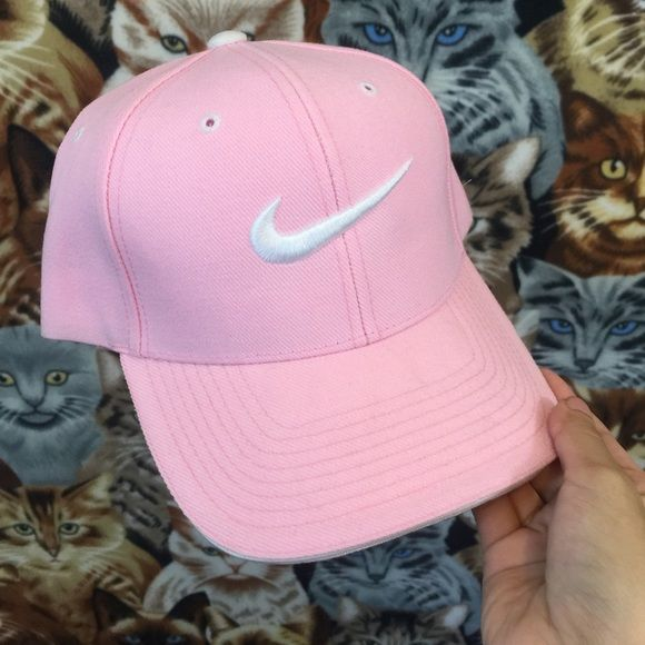 Pastel Pink Nike Logo Cap ✨UNIF for exposure UNIF Accessories Hats