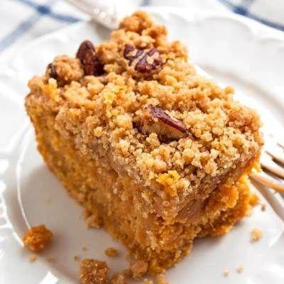 Gâteau aux patates douces avec noix de pécan Streusel – Recette simple de desserts d'automne   – Food
