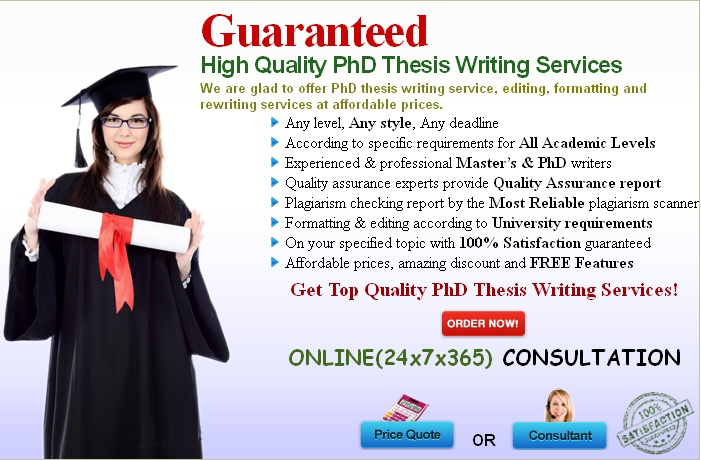 PhD thesis writing is the most challenging task especially as at this stage PhD students are expected to demonstrate the highest level of writing skills, research work and the flawless findings and conclusions. Yet. it is something that the candidates have to complete. If you are one of those who fear they won't be able to meet the highest level of proficiency required for writing a PhD thesis, feel free to contact us without delay for best PhD thesis writing services.