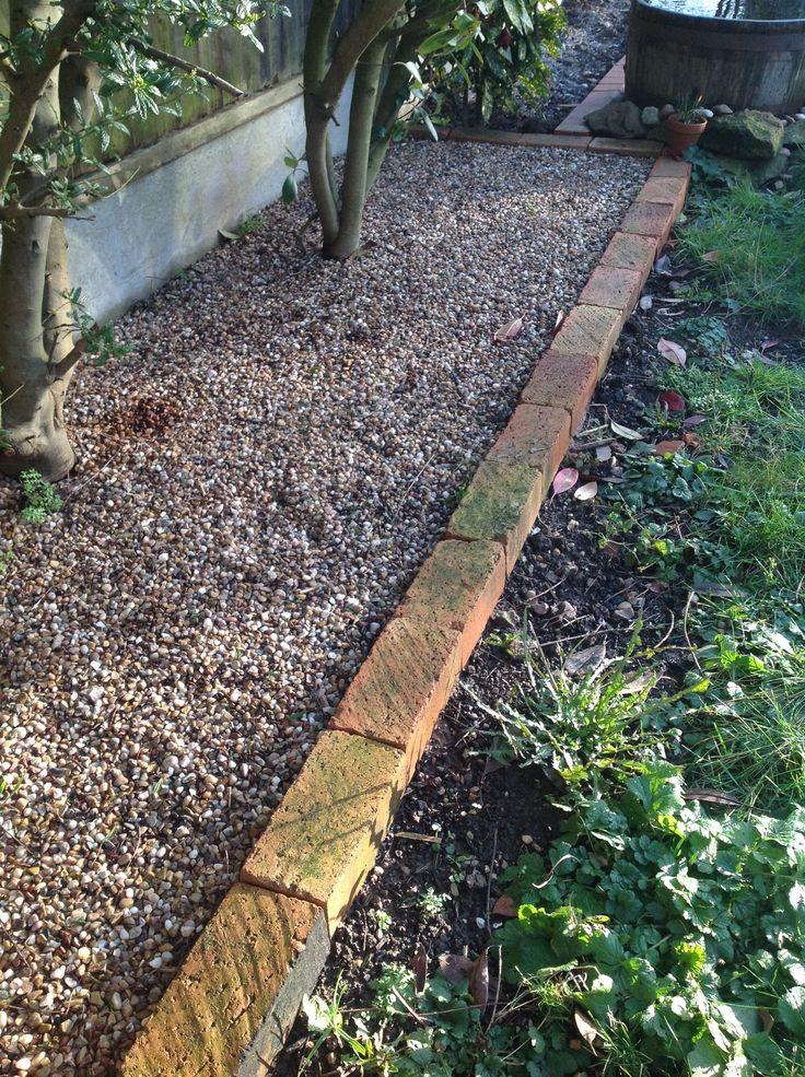 Using leftover bricks to edge flower beds x flower beds for Brick edging for your flower beds
