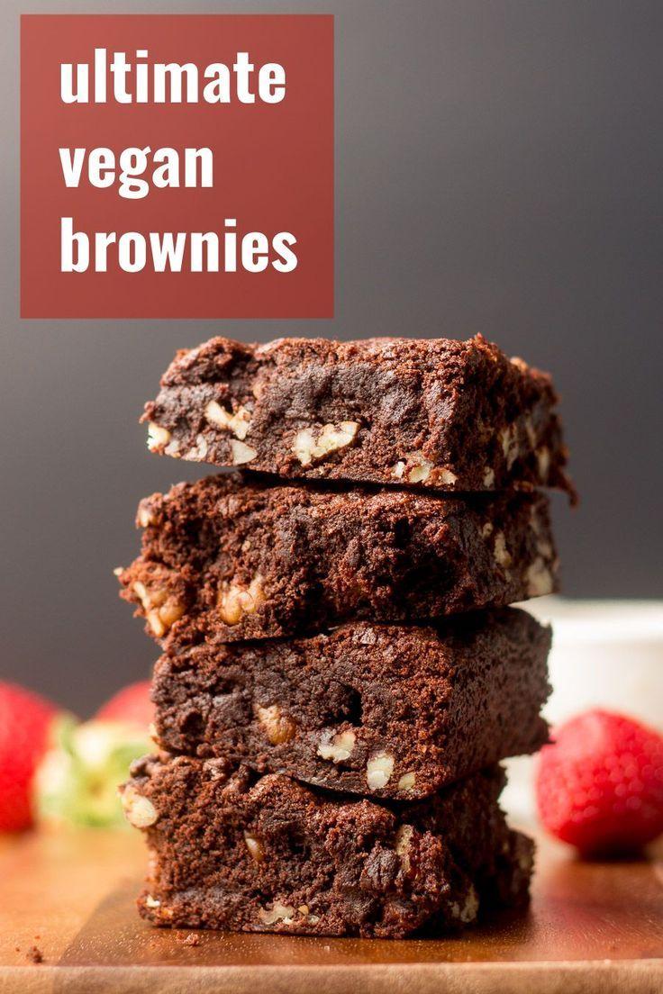 The Best Vegan Brownies In 2020 Vegan Brownie Best Vegan Brownies Vegan Sweets