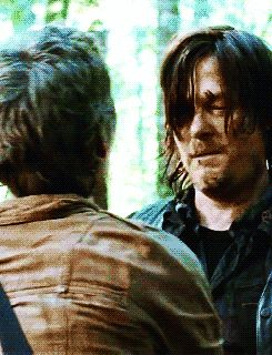 Carol and Daryl. Idk how many times I have pinned their reunion but I'm not going to stop