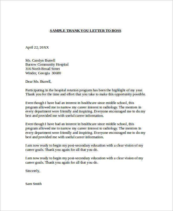 Sample Letter To Boss from i.pinimg.com