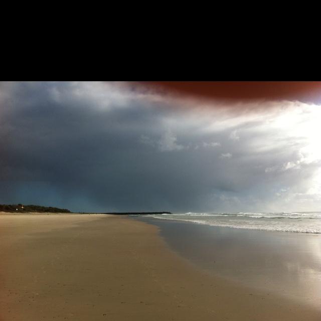 Looking north - goodbye rain!! Brunswick Heads 12 April 2012