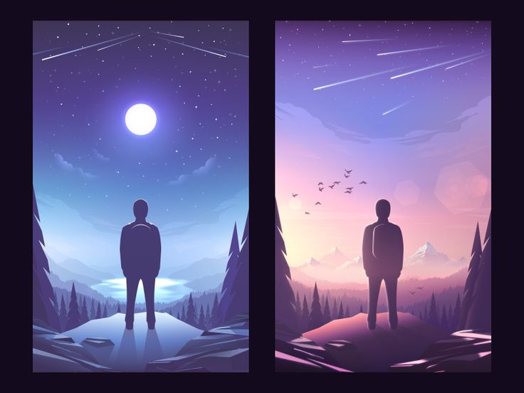 Dribbble - Day Night by MRusta