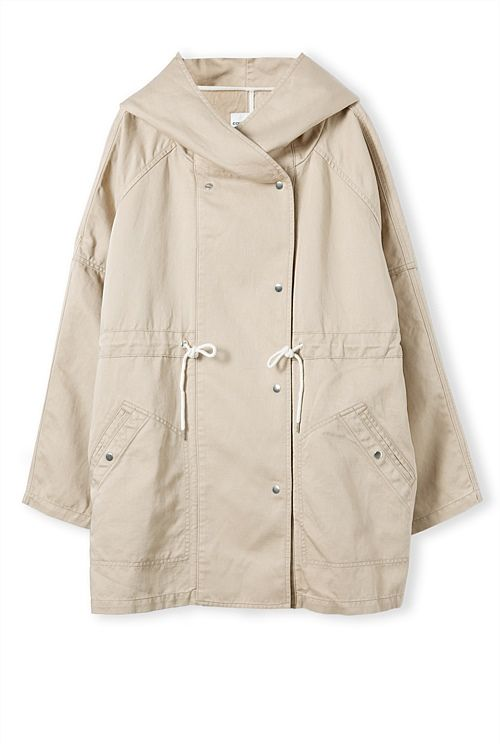 Textured Hooded Parka