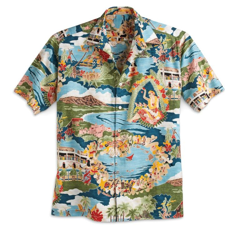 ''Boat Day'' Aloha Shirt | National Geographic Store