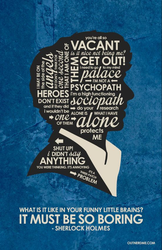 BBC Sherlock Inspired Quote Poster by OutNerdMe on Etsy