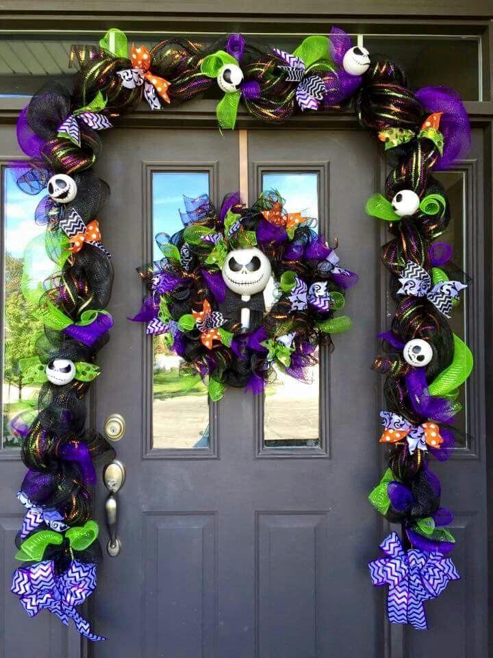 The Nightmare Before Christmas Halloween Wreath Halloween Decorations Jack Skellington