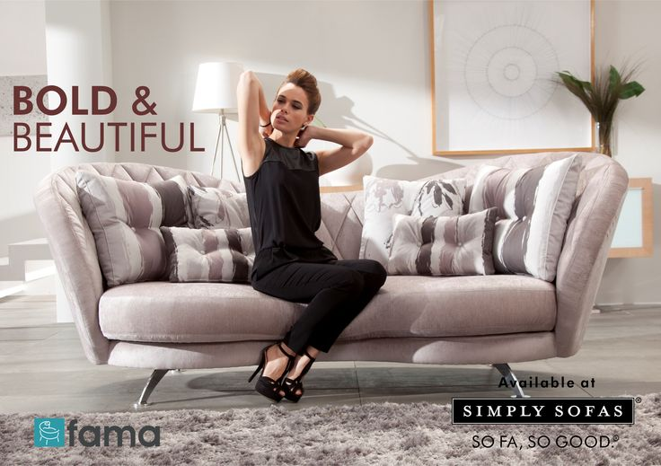 Fama - Josephine is a unique design with large seat cushion. The curves form a distinctive silhouette. A smart sofa that offers cushy comfort. Now available at http://www.simplysofas.in/fama-fabric-sofas.php #Fama #SimplySofas #Furniture #Sofas #SoFaSoGood