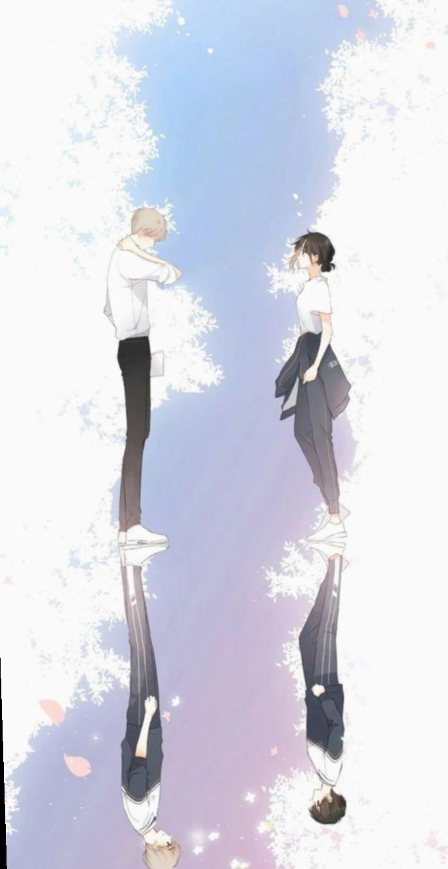 15 Couple Wallpaper Anime Kawaii Ilustrasi Karakter Ilustrasi Animasi