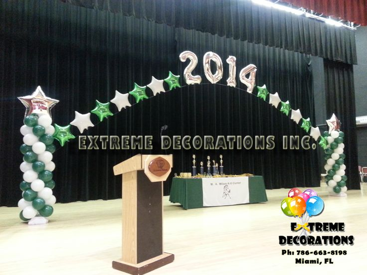 21 best images about award ceremony on pinterest for Balloon decoration ideas for graduation
