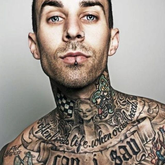 78 Best Images About Neck Tattoos For Men On Pinterest