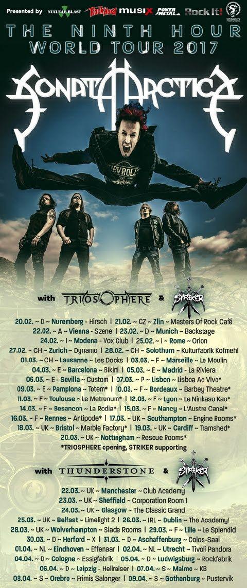 STRIKER Announce European Tour w/ SONATA ARCTICA, TRIOSPHERE and THUNDERSTONE – Kat's Metal Litter Box